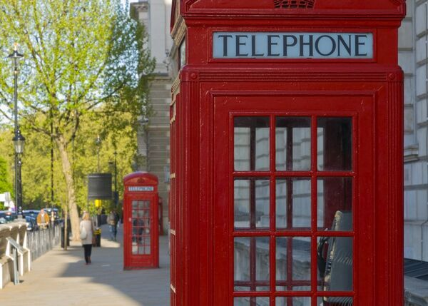 UK, England, London, Parliament Square, Telephone Box