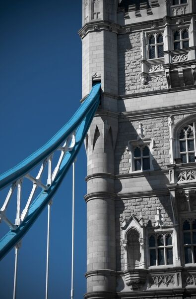 UK, London, Tower Bridge over River Thames