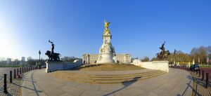 London, Buckingham Palace and Victoria Monument