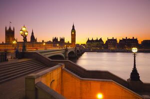 London, Houses of Parliament, Big Ben and Westminster Bridge
