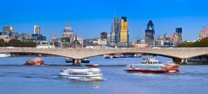 panoramic london/uk england london city london skyline river thames