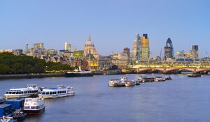 UK, England, London, The City of London skyline and River Thames