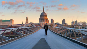 bridges/uk england london st pauls cathedral millennium