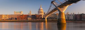 panoramic london/uk england london st pauls cathedral millennium