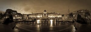 UK, England, London, Trafalgar Square, National Gallery and St. Martins-in-the-Fields