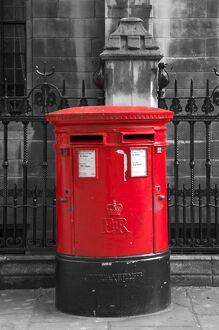 UK, London, Dean's Yard, Post Box