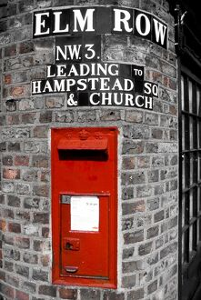 UK, London, Hampstead Post Box