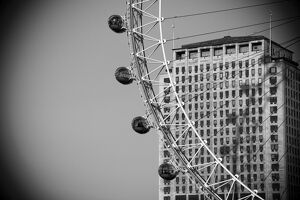 UK, London, London Eye & The Shell Building