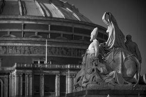 UK, London, Royal Albert Hall and Albert Memorial